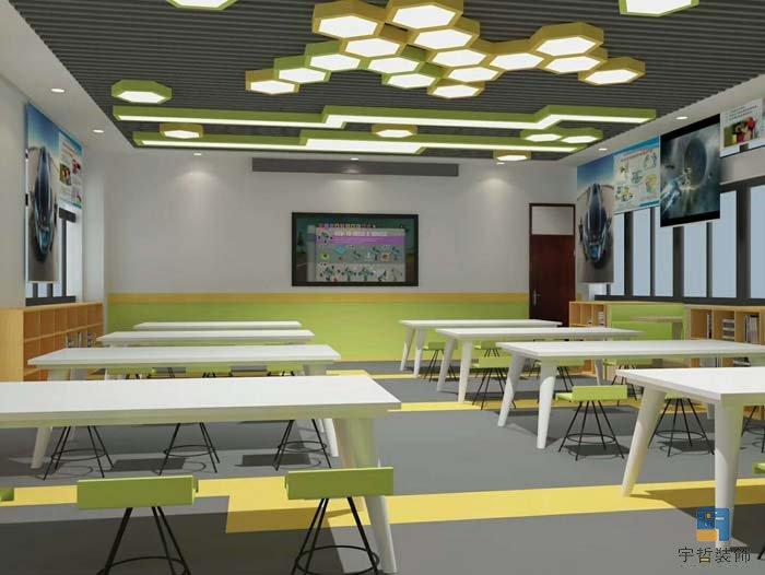 装饰公司平面布局_学校教室、培训中心设计思路_宇哲办公室装修公司